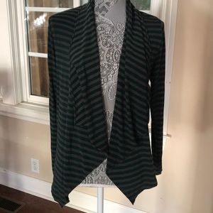 Stripped Green and Gray cotton wrap